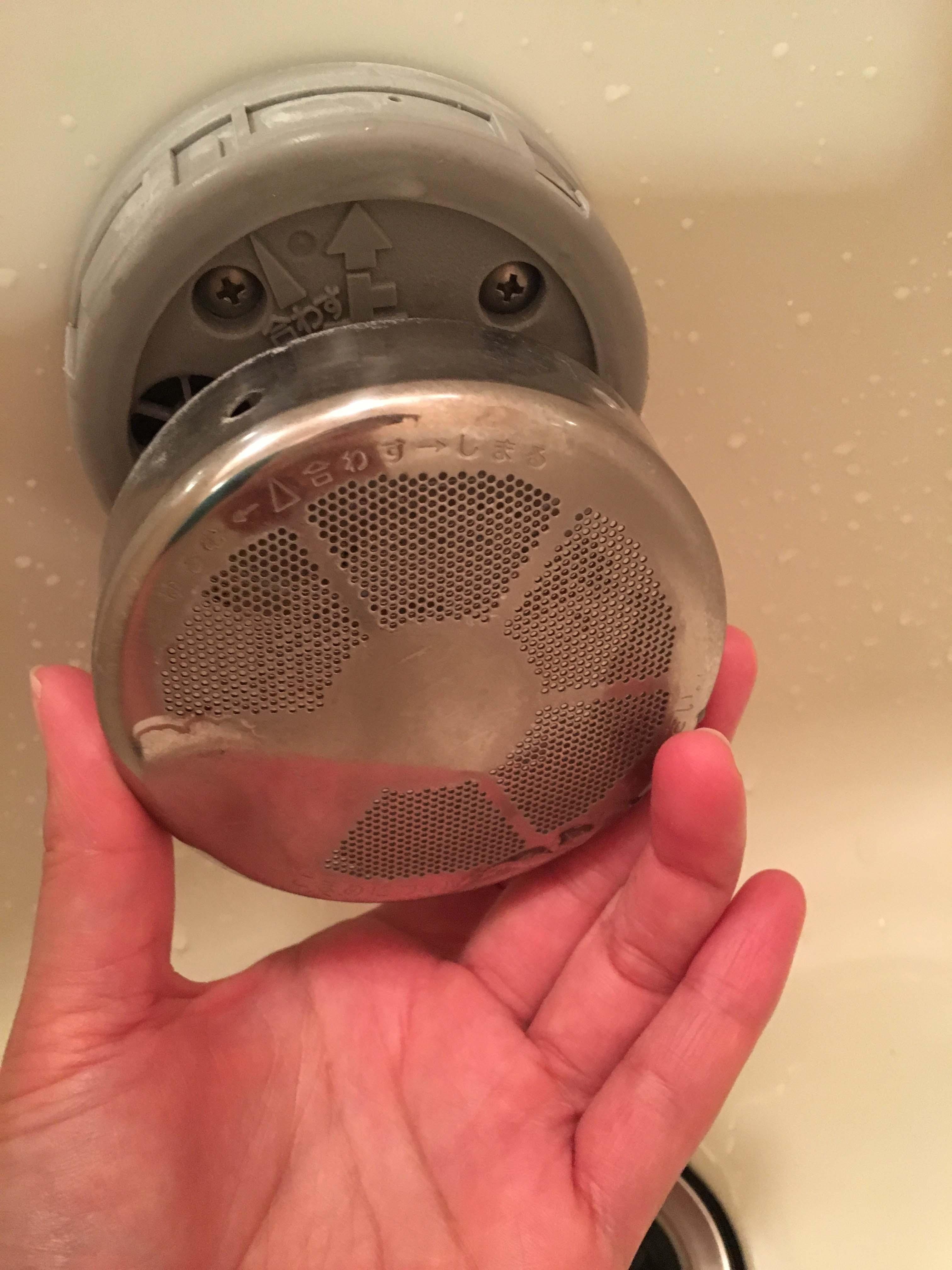 お風呂のフィルターが外れない